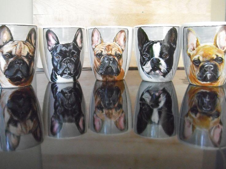 Bulldogs !!!  Hand painted customized Mugs  repin !