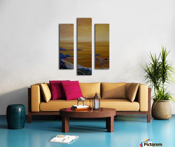 Autumn, colors, theme, scene, seascape, fine art, oil painting, decor items, triptych, 3 split, stretched, canvas, multi panel, prints, for sale