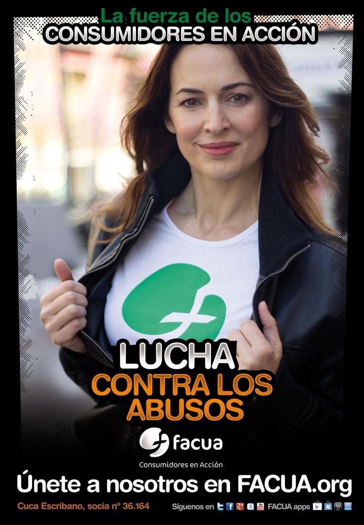 Cuca Escribano, socia de FACUA nº 36.164, llama a los consumidores a la lucha contra los abusos