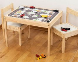 """Design your IKEA LÄTT kids table! Limmaland Möbeldesign """"Kleine Stadt"""" für Kinder und Autofans - www.limmaland.com"""