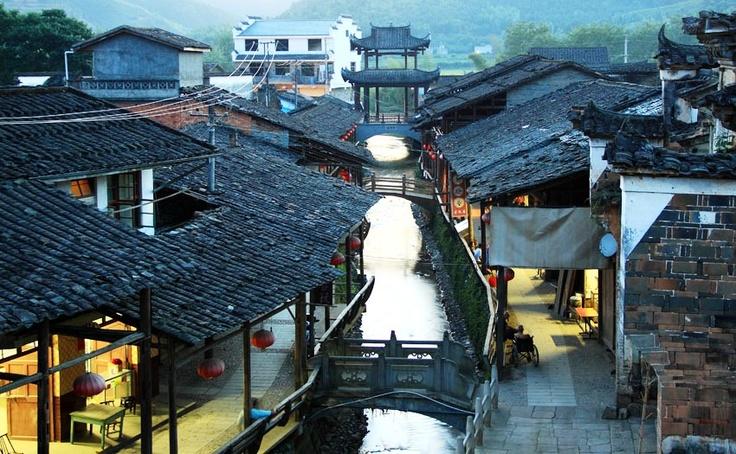 xiamei tea village - final scene