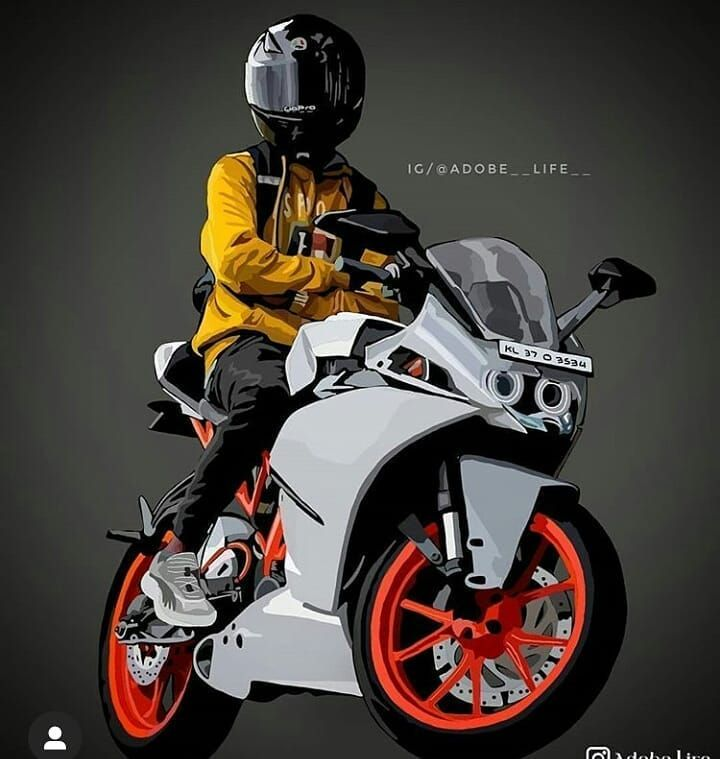 Tumblr In 2021 Motorbike Art Bike Illustration Swag Cartoon Lock screen iphone ktm wallpaper hd