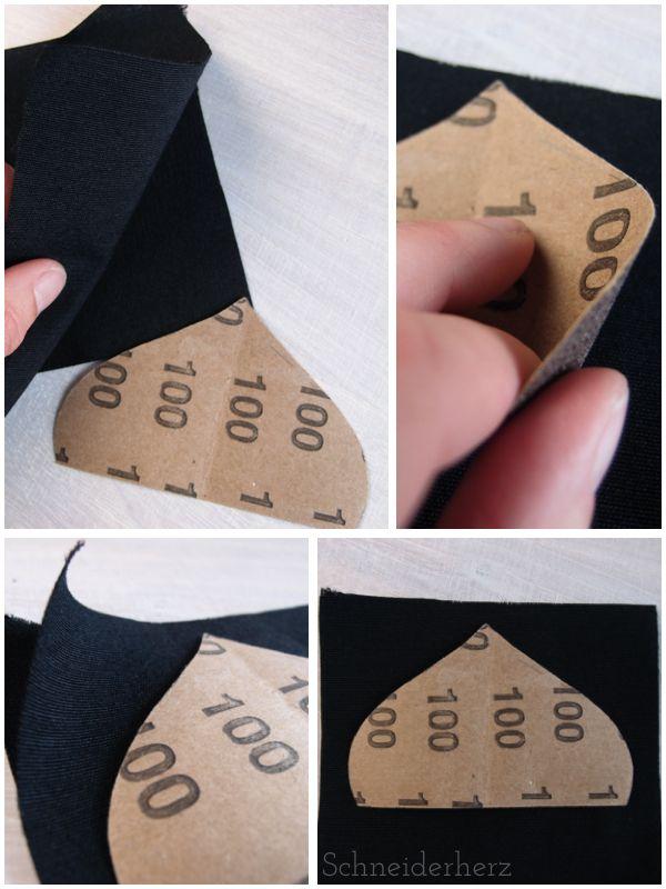 Jede Form perfekt verstürzen- ein Tutorial - Super Idee, exakt nähen mit Schleifpapier!