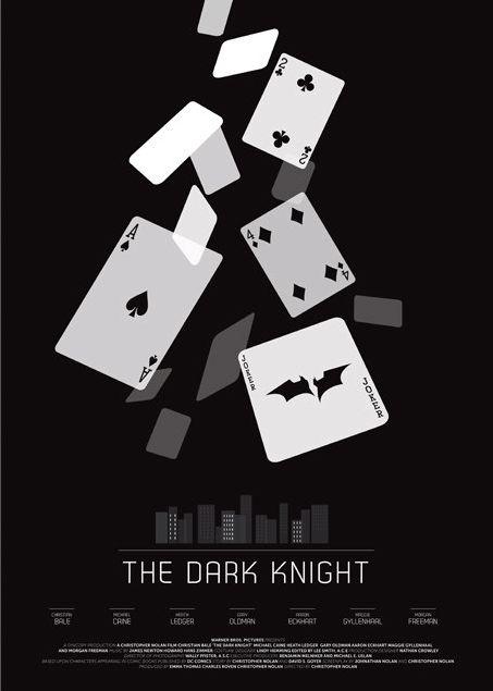 The Dark Knight (2008) ~ Minimal Movie Poster by David O'Mara #amusementphile
