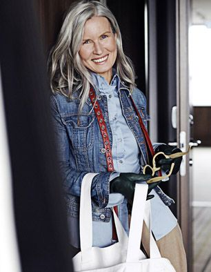 Juliana, Grey and beautiful, sophisticated, bold, pretty, grandma, mother, wife, NO! woman! www.mode-coach.nl