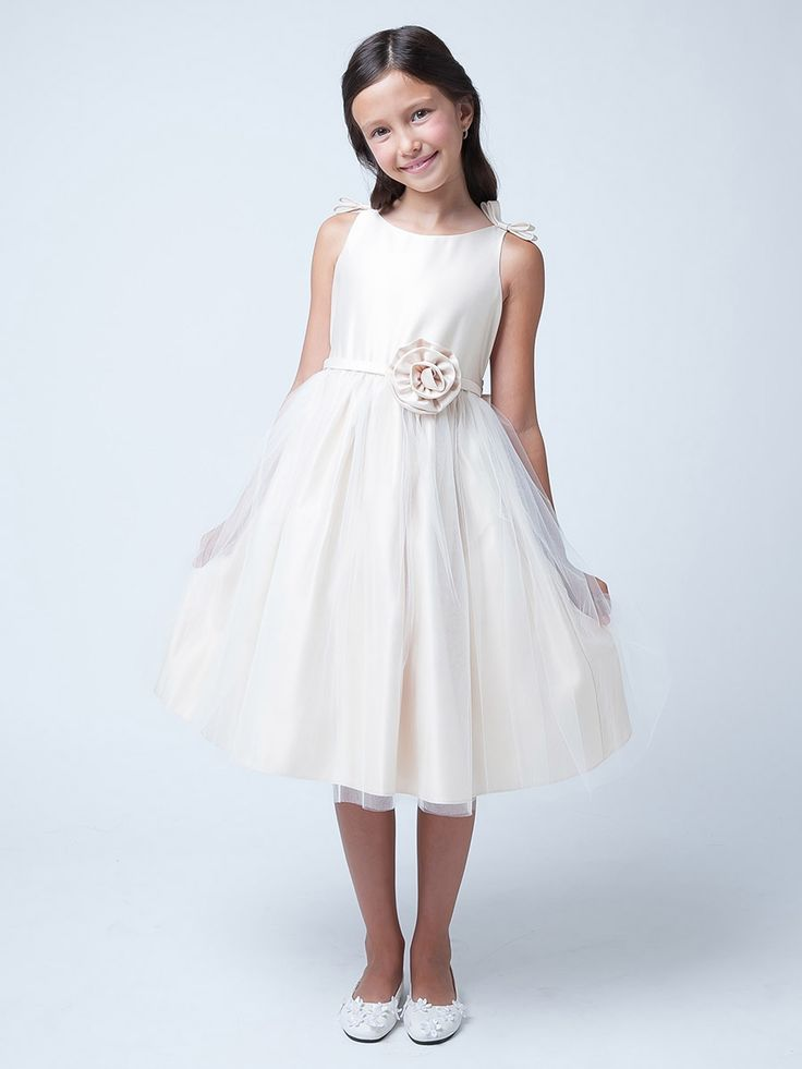 Ivory Double Bow Satin & Tulle Dress…Pink Princess website