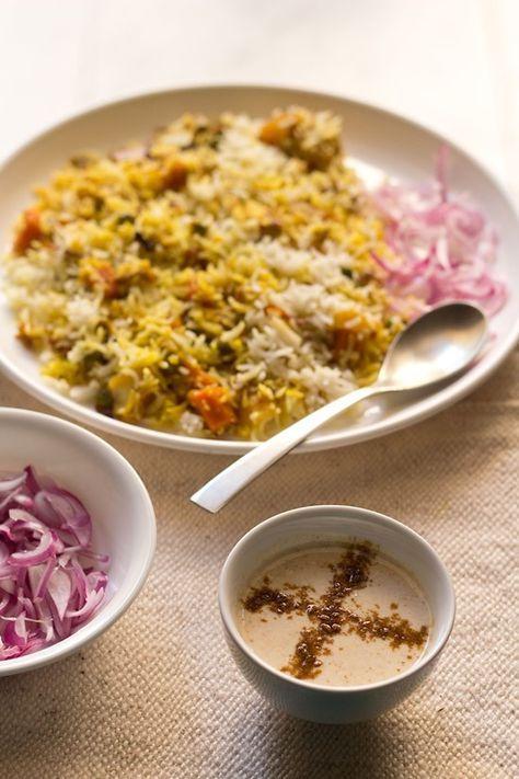 burhani raita recipe. quick raita that can be made in a few minutes. burhani or boorani raita is from the hyderabadi cuisine and is served with biryani.