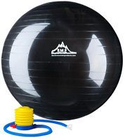 Black Mountain Products Exercise Stability Ball with Pump Black 85cm-85 cm 1 Each