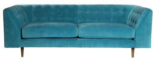 Deco large sofa by Couch Design at Achica. aqua teal turquoise home decor design furniture