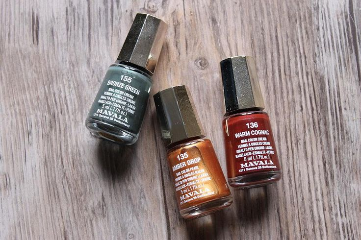 As the leaves turn brown mix up your Mavala mani with earthy shades