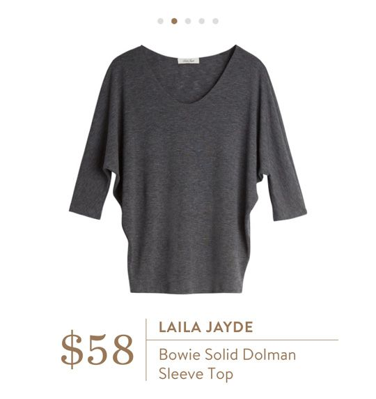 Stitch Fix: Laila Jayde Bowie Solid Dolman Sleeve Top $58
