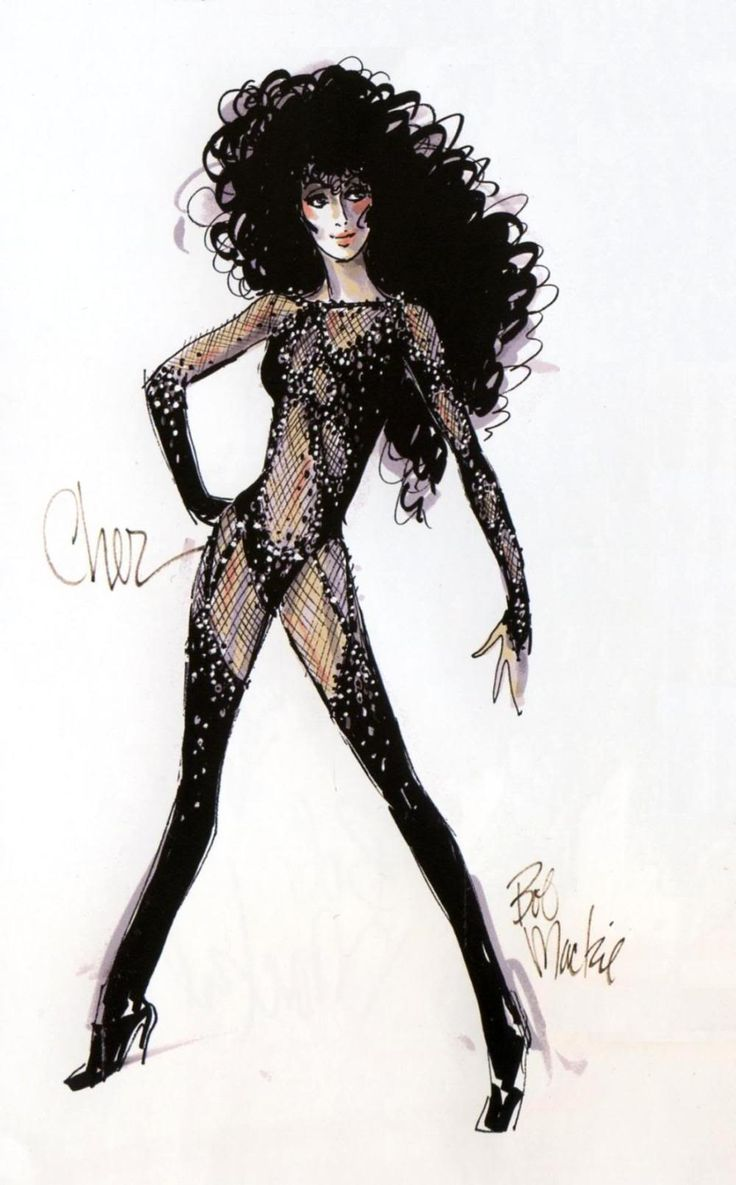 """Bob Mackie's """"Turn Back Time"""" costume for Cher"""