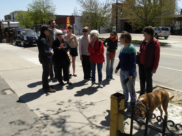 """Jane's Walk 2013: Providence, Rhode Island, USA - """"A Walk on the West Side"""" - Guided by Tina Regan - Photo by Nathan Storring - http://www.janeswalk.net/"""