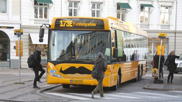The Danish transport company Arriva has joined the Movember movement giving all buses mustach during November, the month for awareness for prostate cancer.