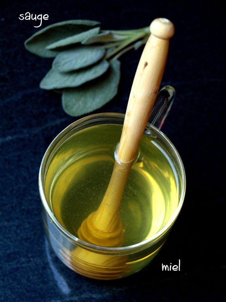 Une infusion de sauge... et ça repart! Tonique et digestive, cette tisane de sauge au miel est toute indiquée pour nous aider à passer le cap du changement de saison et/ou à digérer un repas un peu trop lourd.