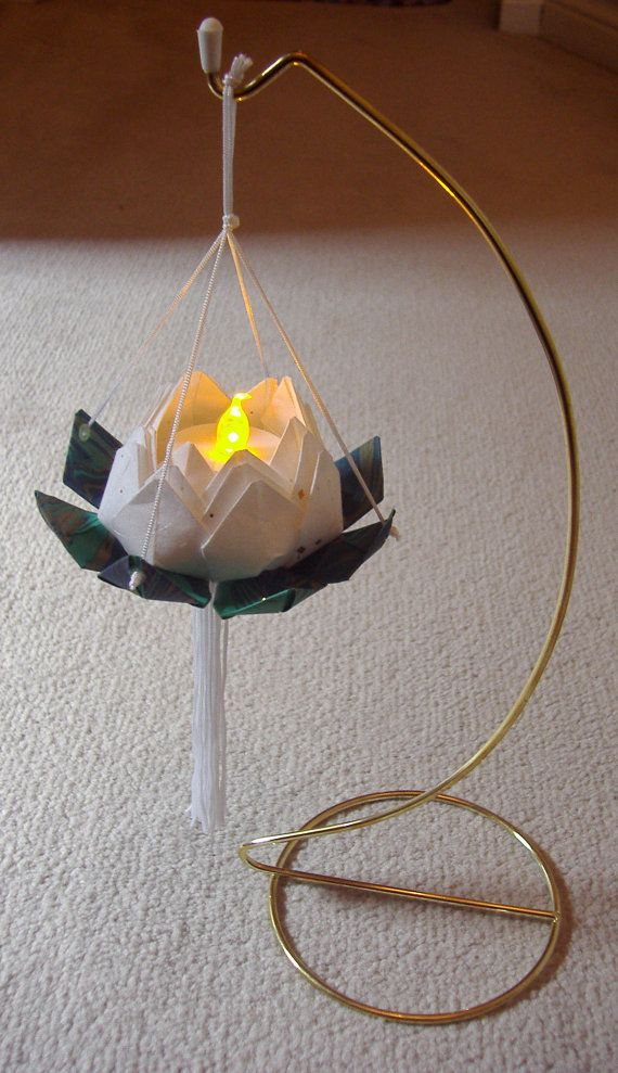 Japanese Origami Lotus Flower Paper Lantern with by StudioRobertWu- $10 DIY kit :-)