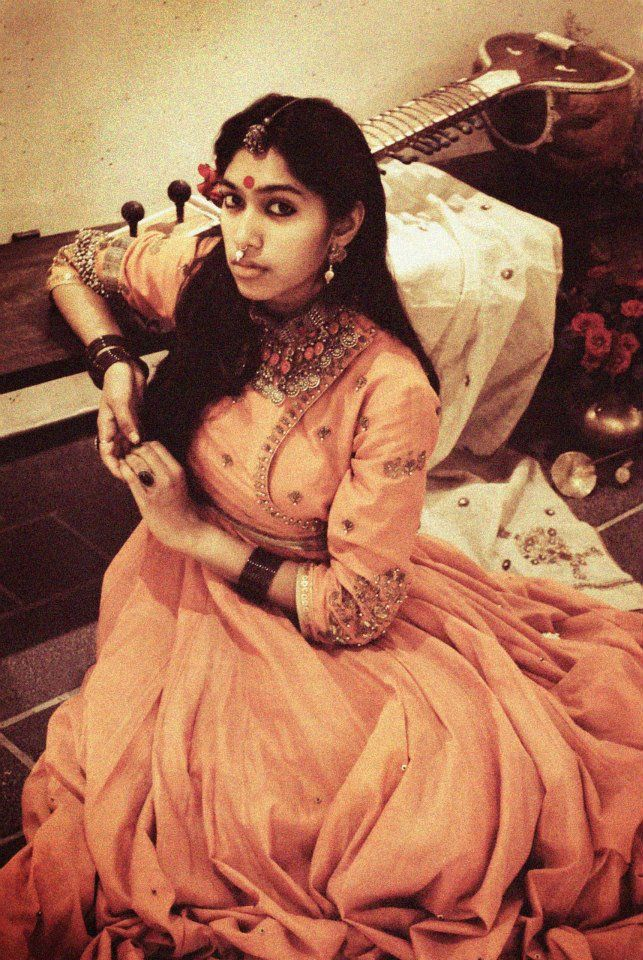 Handwoven and embroidered full length peach angrakha by Dhruv Singh