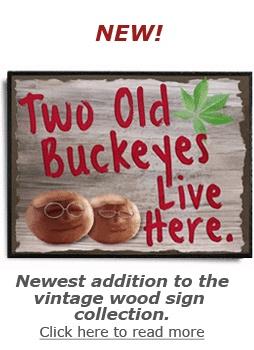 Two Old Buckeyes wood sign, ohio state buckeye gift
