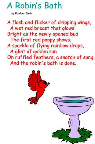Poem A Robin S Bath Scouts Pinterest Songs Robins