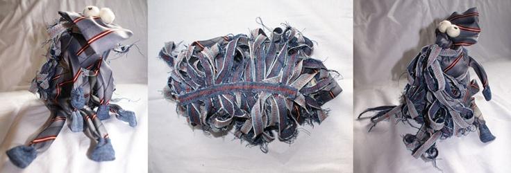 Krawaciak rocky. Recykling krawatowy