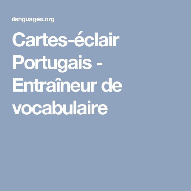 Cartes-éclair Portugais - Entraîneur de vocabulaire