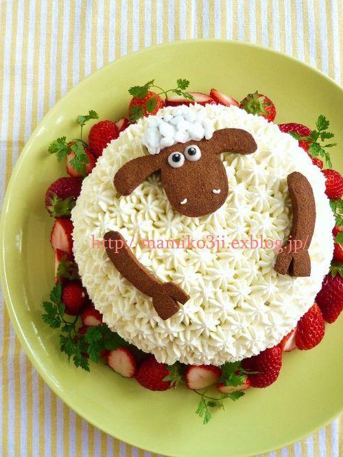 Que bolo legal. Uma ovelha. Ideal para fazer para um pastor.