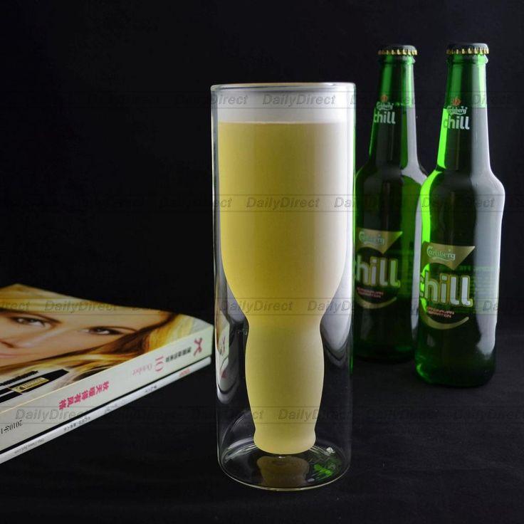 Upside Down Glass Beer Cup