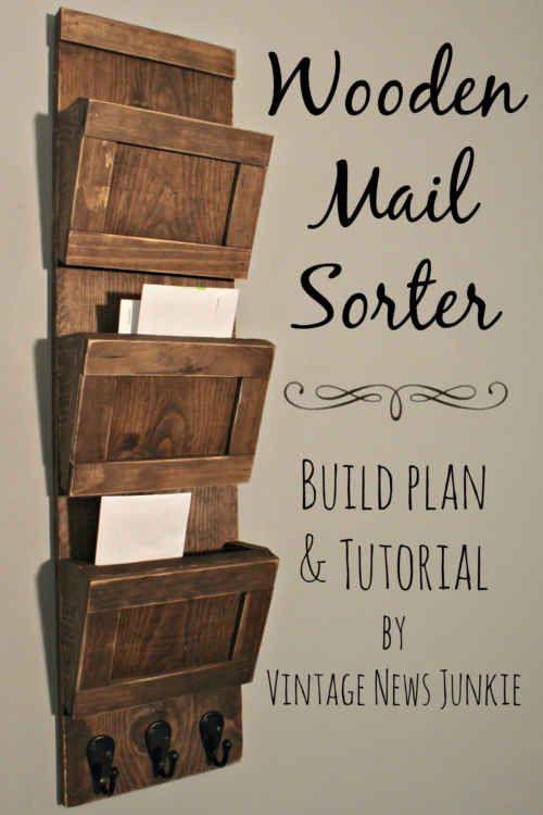 Mehr DIY Mail-Organizer Papier Clutter To Control