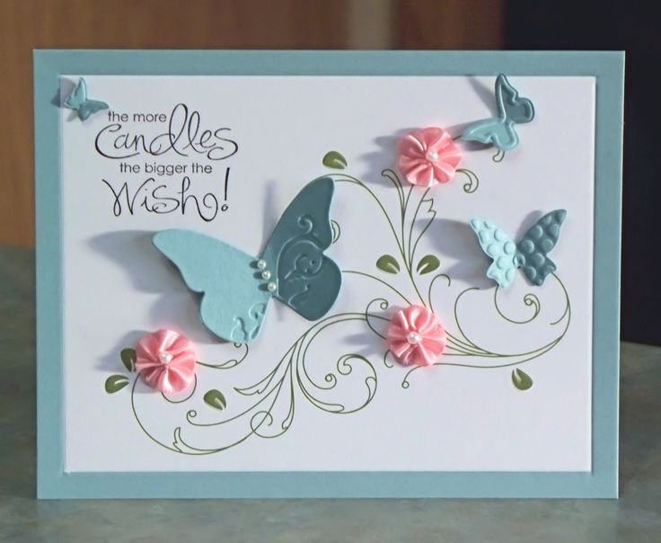 Handmade Birthday Card, Stampin' Up Whimsical Words.