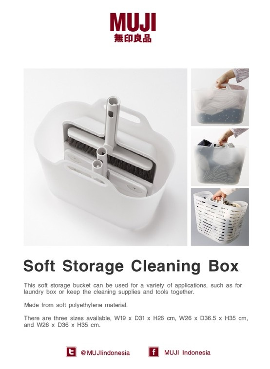 Soft Storage Cleaning Box series. It can be used as a laundry box or keep the cleaning supplies together.