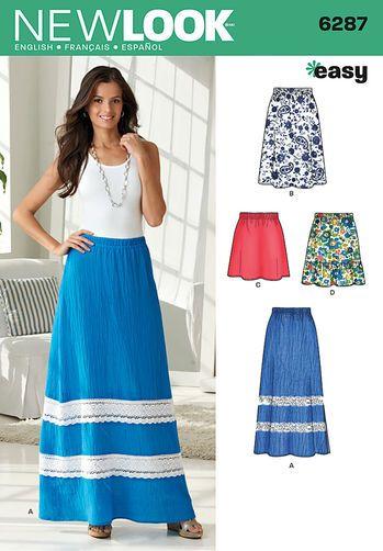 Misses' Pull on Skirt in Four Lengths