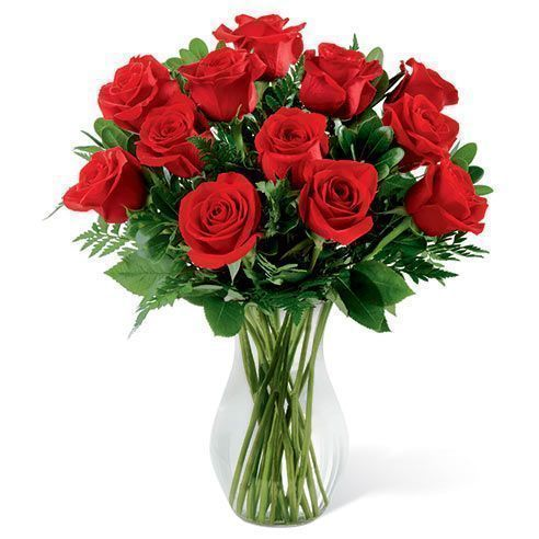 12 Long Stem Roses Bouquet and cheap flowers free delivery at send flowers usa