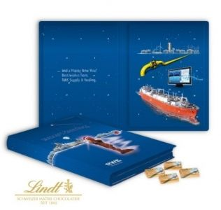 Promotional Advent Calendar Lindt chocolate book style Christmas advent calendar