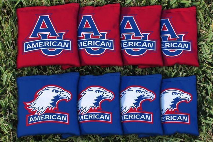 Cornhole Bag Logo Set - American University Eagles 19204