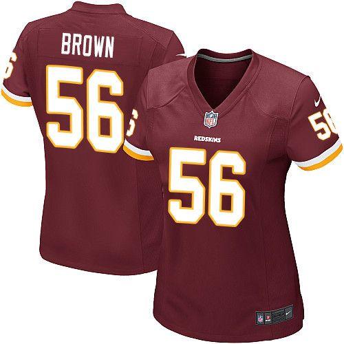 $24.99 Women's Nike Washington Redskins #56 Zach Brown Game Burgundy Red Team Color NFL Jersey