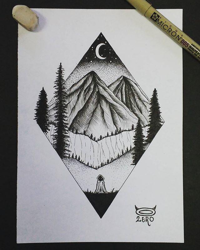 #geometric #nature #blackandwhite