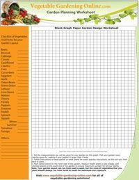 PLAN YOURSELF: Vegetable Garden Worksheets Garden Diary ...
