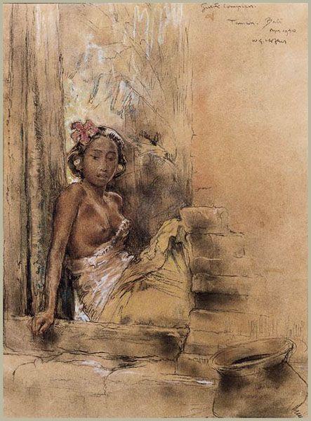 Willem Gerard Hofker - Ni Goesti Kompiang Mawar, Taman Bali