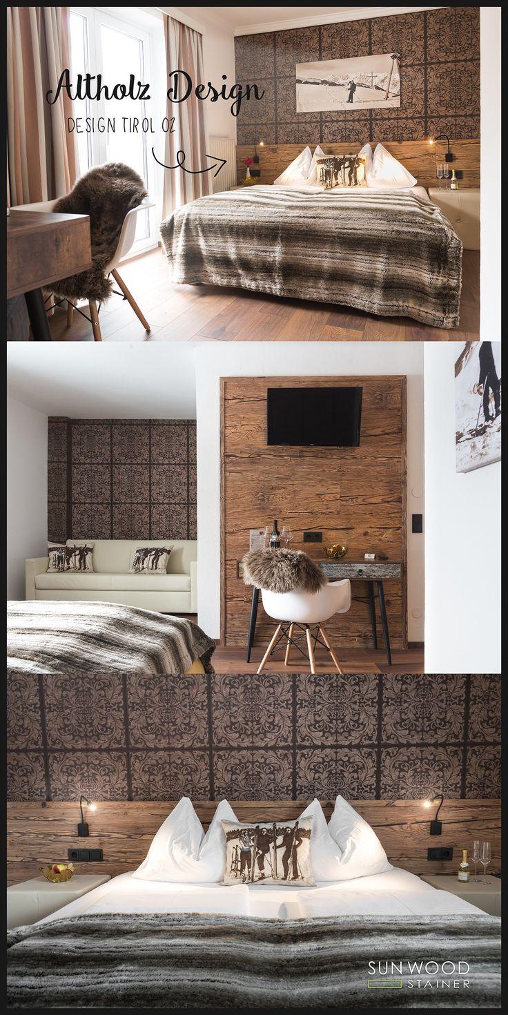 Altholz Interior Design   Hotel, Altholz, Design, Einrichtungsideen, Hotel,  Hotellerie, Schlafzimmerideen, Schlafzimmer, Used Look, Holzwände, Wohnwand  Aus ... Idea