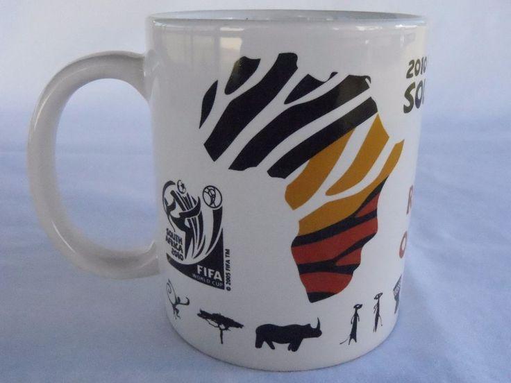 FIFA 2010 World Cup Mug official Rythyms of Africa hologram football souvenir VG  | eBay