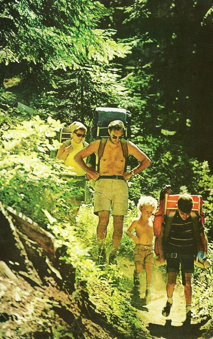 Hikers at Goat Rocks Wilderness, California National Geographic | June 1971