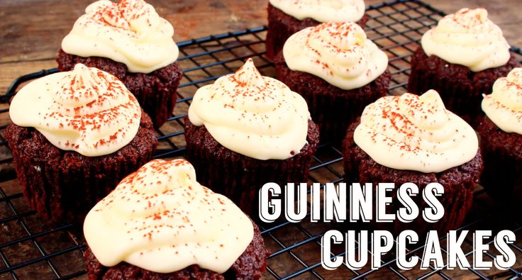 Delish Guinness cupcakes to celebrate St Patrick's Day