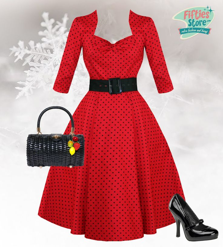Red dress 50s living