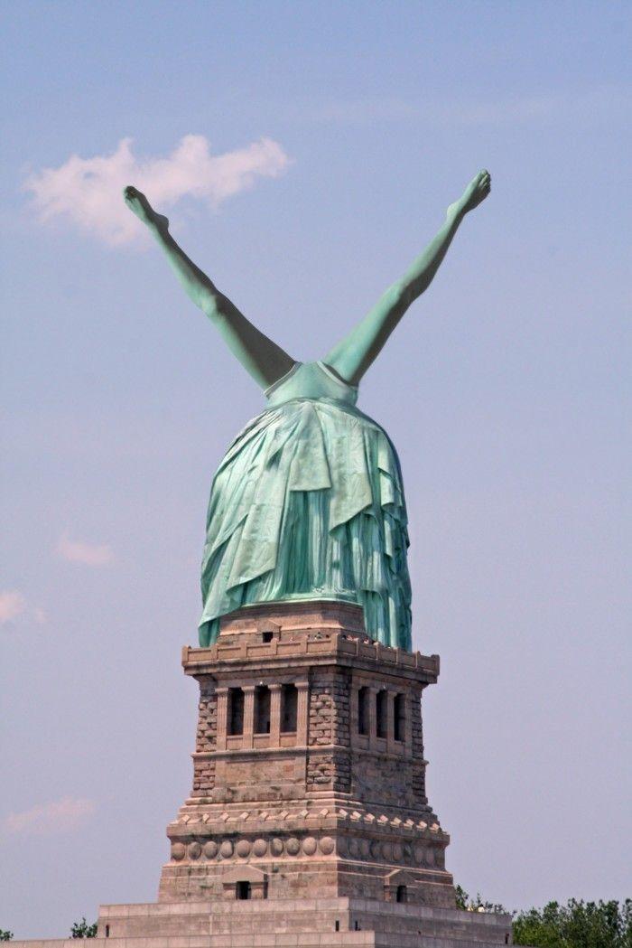 Lady Liberty Upside Down