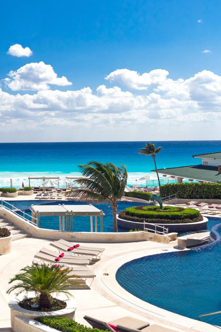 Between lagoon and sea this sprawling hotel is just 10 minutes from the action in resorts all inclusiveluxury resortscancun mexicobeach