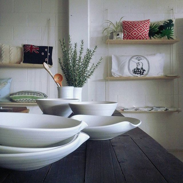 White crockery and morning light - so relaxing, so full of possibilities.  #morning #pottery #shopdisplay #interiordesign #table #inspiration #beautyintheeveryday #chasingthelight #shoplocal #havelocknorth #hawkesbay #artisanmadegoods #simplicity