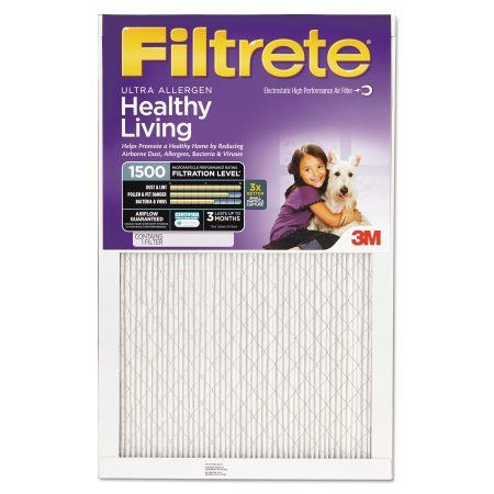 Filtrete Advanced Allergen Reduction Air and Furnace Filter, Available in Multiple Sizes, 4pk