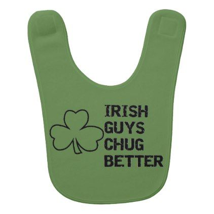 st patricks day irish guys chug better bestselling bib - baby gifts child new born gift idea diy cyo special unique design
