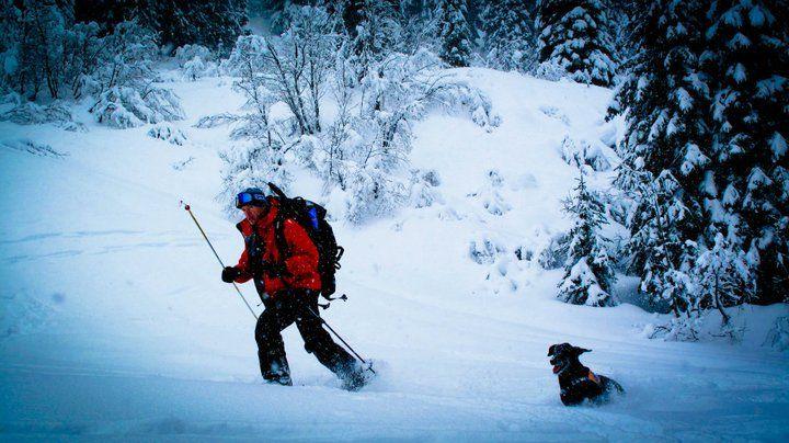 Ski Patrol and their rescue dog