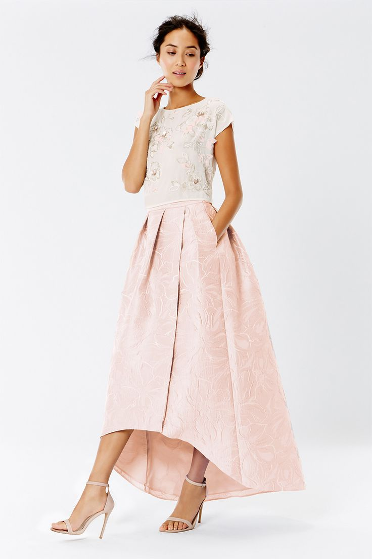 LEAH JACQUARD HI LOW SKIRT | Bridesmaid Separates from Coast | SouthBound Bride